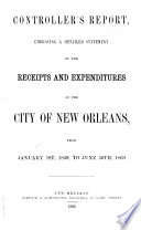 Annual Report of the Commissioner of the Department of Public Finance  City of New Orleans  Louisiana