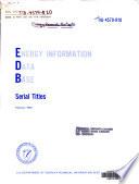Energy Information Data Base