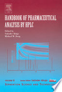 Handbook of Pharmaceutical Analysis by HPLC