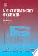 Handbook of Pharmaceutical Analysis by HPLC Book