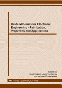 Oxide Materials for Electronic Engineering   Fabrication  Properties and Applications