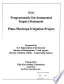 Programmatic EIS, Pima-Maricopa Irrigation Project, Maricopa County, Pinal County