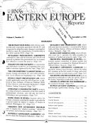 BNA S Eastern Europe Reporter