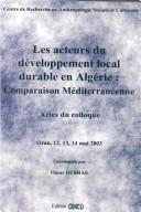 Les acteurs du développement local durable en Algérie