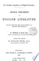 Choice specimens of English literature, selected and arranged by T.B. Shaw, ed. W. Smith