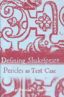 Defining Shakespeare