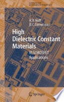 High Dielectric Constant Materials Book PDF