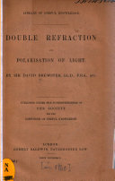 Double Refraction and Polarisation of Light