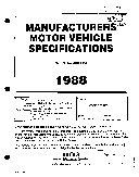 MVMA Specifications Form   Passenger Car  Chevrolet Sprint  1988