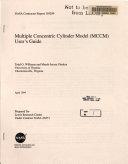 Multiple Concentric Cylinder Model  MCCM  User S Guide