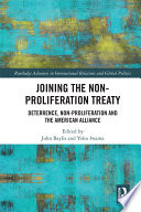 Joining the Non Proliferation Treaty