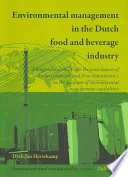 Environmental management in the Dutch food and beverage industry
