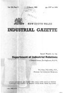 The New South Wales Industrial Gazette