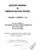 Selected Readings in American Military History