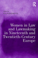 Pdf Women in Law and Lawmaking in Nineteenth and Twentieth-Century Europe Telecharger