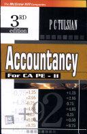 Accountancy for Ca Professional Examination - Ii,3e