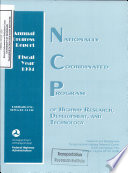 Nationally Coordinated Program of Highway Research  Development  and Technology  Annual Progress Report  Fiscal Year 1994 Book
