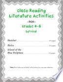 Close Reading Literature Activities For Grades 4 8 Survival Stories