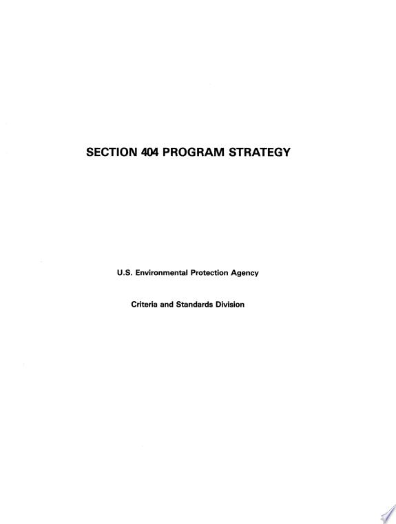 Section 404 Program Strategy