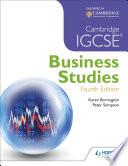 Cambridge IGCSE Business Studies 4th edition