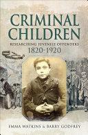 Criminal Children Pdf/ePub eBook
