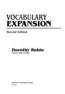 Vocabulary Expansion
