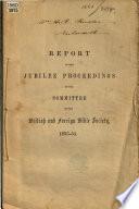Report of the Jubilee proceedings     1853 54 Book PDF