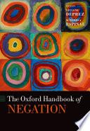 The Oxford Handbook of Negation
