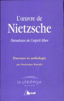 L' oeuvre de Nietzsche