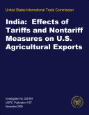 India: Effects of Tariffs and Nontariff Measures on U.S. Agricultural Exports