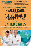 The Official Guide for Foreign-Educated Allied Health Professionals Pdf/ePub eBook