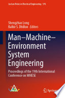 Man   Machine   Environment System Engineering Book