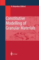 Constitutive Modelling of Granular Materials Pdf/ePub eBook