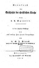 Grundriss der Gesch. der christl. Kirche