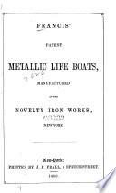 Patent metallic life boats
