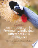 Cover of An Introduction to Personality, Individual Differences and Intelligence
