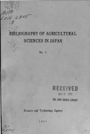 Bibliography of Agricultural Sciences in Japan