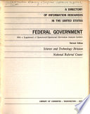 A Directory Of Information Resources In The United States Federal Government