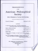 Proceedings  American Philosophical Society  vol  96  no  1