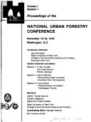 Proceedings of the National Urban Forestry Conference