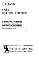 Case for Mr  Fortune