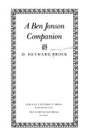 A Ben Jonson companion