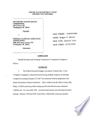 Federal National Mortgage Association: Securities and Exchange Commission Litigation Complaint