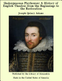 Pdf Shakespearean Playhouses: A History of English Theatres from the Beginnings to the Restoration