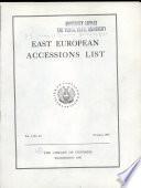 East European Accessions Index