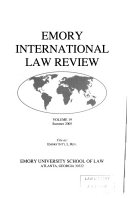 Emory International Law Review Book