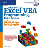 Microsoft Excel VBA Programming for the Absolute Beginner
