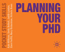 Planning Your PhD