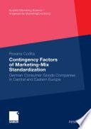 Contingency Factors of Marketing-Mix Standardization