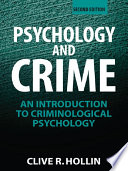 Psychology And Crime Book PDF